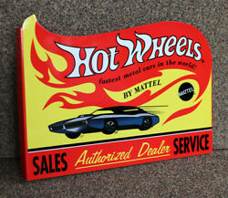 Hot Wheels Sales And Service Diecut Display Flange Sign Gas Oil  Modern Retro