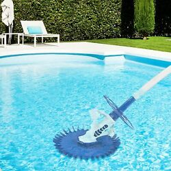 Automatic Pool Vacuum Cleaner Climb Wall Above Ground Pool Sweeper 32ft Hose Us