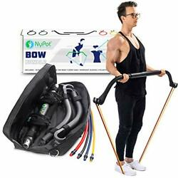 Bow Portable Home Gym Resistance Band And Bar System Travel Workout Equipment Set