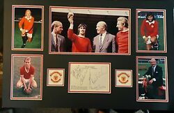 Charlton / Best / Law / Busby - Manchester United Legends - Super Signed Display