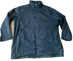 Polo Jacket Size Xxl Concealed Hood Zipped Pockets Black Big And Tall
