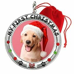My First Christmas Dog Photo Ornament - 2021 Dated Puppy Picture Ornament -
