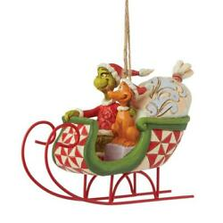 Jim Shore And Max In Sleigh Ornament 6008895 Brand New 2021