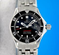 Ladies Omega Seamaster Ss 300m Watch - Black Dial And Bezel - 212.30.28.61.01.001
