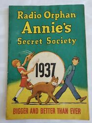 1937 Radio Little Orphan Annieand039s Secret Society Booklet And Mail In Decoder Ring