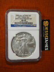 2011 Silver Eagle Ngc Ms69 From The 25th Anniversary Set