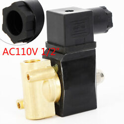 1/2 Npt Electric Solenoid Valve Industrial Solid Brass Valve For Water Air Oil