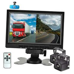 Ahd 1080p Backup Camera System With 7'' Dvr Dual Split Screen Monitor, Ip69