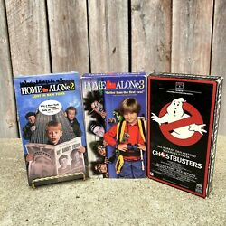 Sealed Vintage Home Alone 2 And 3 Ghostbusters Vhs Video Tape Bundle