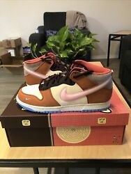 Social Status Nike Free Lunch Dunk Chocolate Milk Size 11 Mens In Person