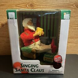 2002 Gemmy Holiday Animated Singing Santa Claus 4x Aa Batteries Or Power Cord