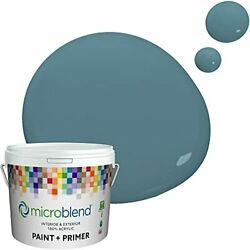 Microblend Interior Paint And Primer - Blue/sea Waves Eggshell Sheen 1 Gallon...
