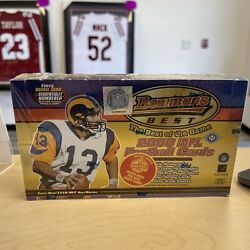 2000 Bowmanand039s Best Football Factory Sealed Hobby Box 24 Packsrare Inserts