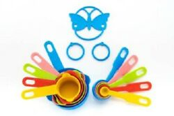 Color Measuring Cups And Spoon Set For Kitchen Measuring Cup 10 Pieces Set