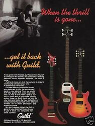 1983 Vintage 8x11 Print Ad When Thrill Is Gone Get It Back With Guild Guitars