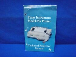 Texas Instruments 855 Printr Technical Reference Manual