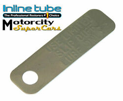 1964-72 Gto Chevelle 442 Gs Limited Slip Rear Axle Housing Differential Lube Tag