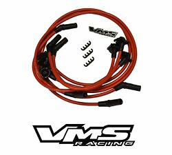 10.2MM HUGE SPARK PLUG IGNITION WIRES SET 95-99 CHEVY CAMARO V6 3.8L RED