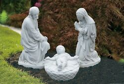 Large Nativity Set 3 Pieces Mary Joseph and Baby Jesus Outdoor Statues