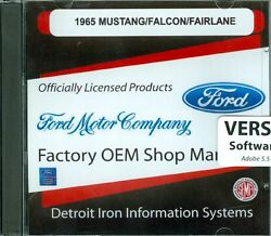 1965 65 Mustang/gt Shop/body /parts Manual On Cd