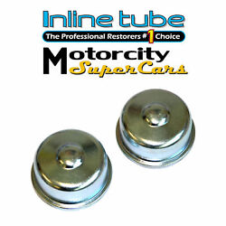 64-65-66-67-68-69-70-71-72 Chevelle Wheel Bearing Dust Cover Factory Correct 2pc