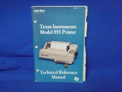 Texas Instruments Printe 855 Technical Reference Manual