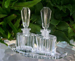 Pairvintage Czech Perfume Bottles And Traysignedrare5tallexcellent Condition