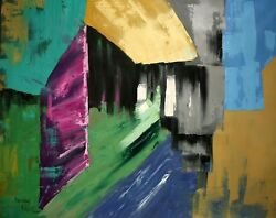 LEAN NOT ON YOUR OWN UNDERSTANDING PAINTING ABSTRACT GENESIS GOD ANTHONY FALBO
