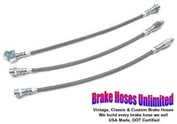 Stainless Brake Hose Set Ford Mustang 1964 Early Before Build Date 8-17-1964