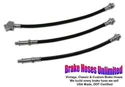 Brake Hose Set Ford Mustang 1965 1966 Front Drum With Single Exhaust