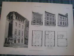 1915 New York City NYC Arch Stanford White Photogravure #29 Public Library