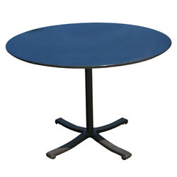 42 Round Black Granite Top And Brass Base Dining Table Mr10747