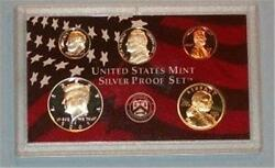 2002 S Partial Silver Proof Set- Sac, Kennedy Half Dollar, Cent, Nickel, Dime