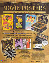 Classic Vintage Movie Posters 2008 Breygent Promo Promotional Sell Sale Sheet