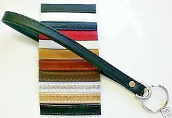 Genuine Leather Key Ring Keyring Wristlet  Accessory Wrist Strap USA  11 Colors