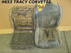 1961-1962 Corvette Seat Frames And Springs Used Originals For The Pair