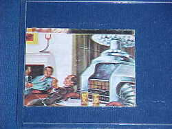 1960and039s Lost In Space Tv Robot B9 Butler Servant Bar Tender Trading Card Rare