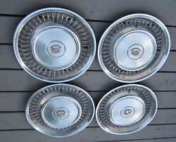 1971 - 1972 Cadillac Deville / Fleetwood Hubcaps Hubcap Wheelcover Set 4 71 72