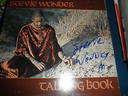 Stevie Wonder Signed Braille Lp Exact Proof At Signing Rare Autograph Coa Rare