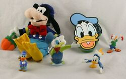 Lot Of 6 Vintage Assorted Donald Duck Collectibles Disney Figurines Toys F2y64