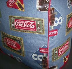 Ice Cold Coca Cola Print Quilted Fabric Cover For Ice Cube Maker Machine New