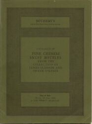 Sotheby's London Chinese Snuff Bottles Gleeson O'keefe Coll Auction Catalog 1980