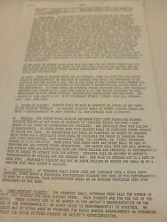 Led Zeppelin/jimmy Page Signed Production Rider Contract Rare + Extras Coa