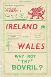 Wales V Ireland 1936 Rugby Programme 14 Mar At Cardiff Championship Decider