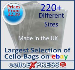 Clear Cello Card Bags - Cellophane Display Bag For Cards And Photos - Uk Post Free