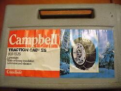 New - Campbell Snow Traction Cable Chains 14 To 16 Tire Sizes