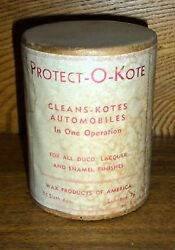 New Old Stock - Protecto-o-kote - For Automobiles - Wax Products Lebanon Pa