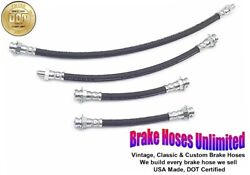 Brake Hose Set Willys Mb Ford Gpw Military Jeep 1942 1943 1944 1945