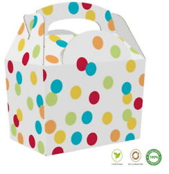 Spotty Spot Food Boxes Cp Childrens Polka Dot Birthday Party Bag Meal Box