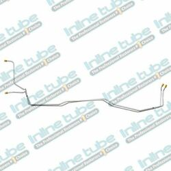 Inline Tube 68- 69-70-71 Chevelle Transmission Cooler Lines T-350 2pc Stainless